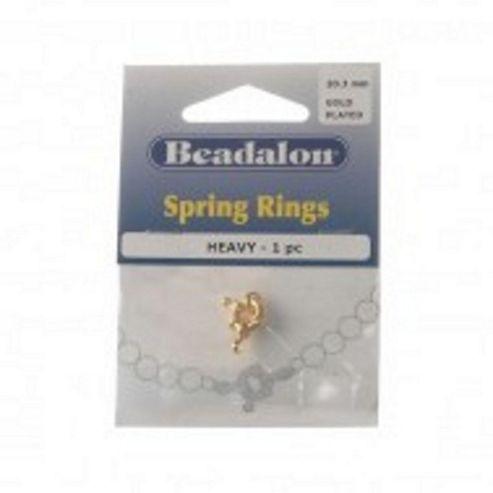 Beadalon Spring Ring Heavy 9.4mm Gp 1Pc