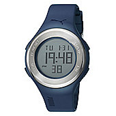 Puma Gents Loop Steel Digital Blue Resin Sport Strap Watch PU910981003
