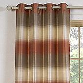 Julian Charles Soho Orange Luxury Jacquard Eyelet Curtain -168x137cm