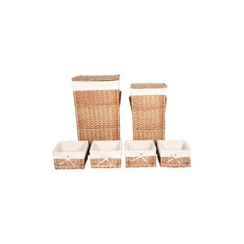 Wicker Valley Square Laundry and Storage Basket (Set of 6)