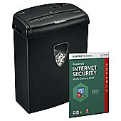 Fellowes Powershred H8 A4 Cross Cut Shredder - plus Kaspersky Internet Security 2016 Bundle