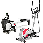 Pure Fitness & Sports Cross Trainer & Rowing Machine Package