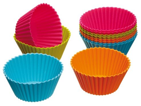 Kitchen Craft Colour Works Silicone Cupcake Case X12