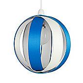 J90 Globe Ceiling Pendant Light Shade in Blue & Cream