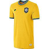 2014-15 Brazil Nike Covert Retro Jersey (Yellow) - Yellow