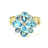 QP Jewellers 2.43ct Blue Topaz Rafflesia Ring in 14K Gold