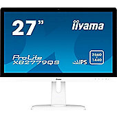 iiyama ProLite XB2779QS-W1 White 2560 x 1440 5ms Height Adjust Display Port