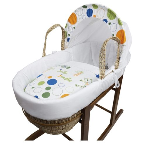 buy kinder valley jolly jungle moses basket from our moses. Black Bedroom Furniture Sets. Home Design Ideas
