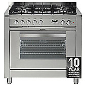 Hotpoint EG900XS, Freestanding, Gas Cooker,90cm, Inox, Twin Cavity, Double Oven
