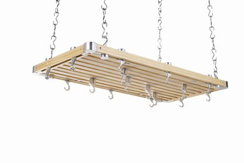 Hahn Large Rectangular Ceiling Rack in Wooden