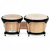 Gon Bops GBFS785N Fiesta Bongos 7in & 8.5in (Natural w/Black Hardware)
