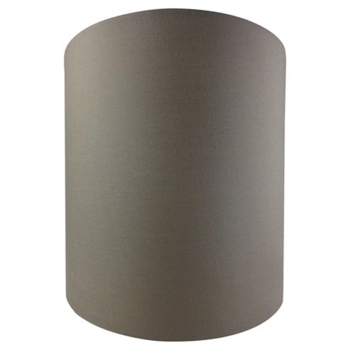 Tesco Lighting Drum Shade 22X22cm, Taupe