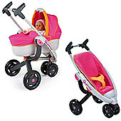 Maxicosy 3 Wheel Doll Pushchair + Doll Pram