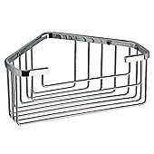 Gedy Deep Corner Basket in Chrome