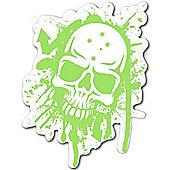 Madd Gear MGP Green & White Skull Sticker