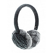Ink Chunky Knit Earmuffs