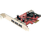 StarTech 4 Port Superspeed Usb 3.0 Pci Express Card With Sata Power Uk