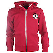 Converse Chuck Patch Core Kids Full Zip Hoodie Hoody Jacket - Red