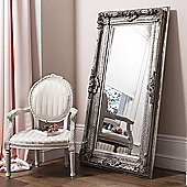Large Silver Shabby Chic Bevelled Wall Mirror New 6Ft X 3Ft2 183Cm X 97Cm