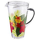 Hibiscus flower print tropic Acrylic Jug