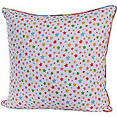 Homescapes Cotton Multi Colour Stars Scatter Cushion, 60 x 60 cm