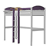Maximus High Sleeper Central Ladder White With Lilac Details