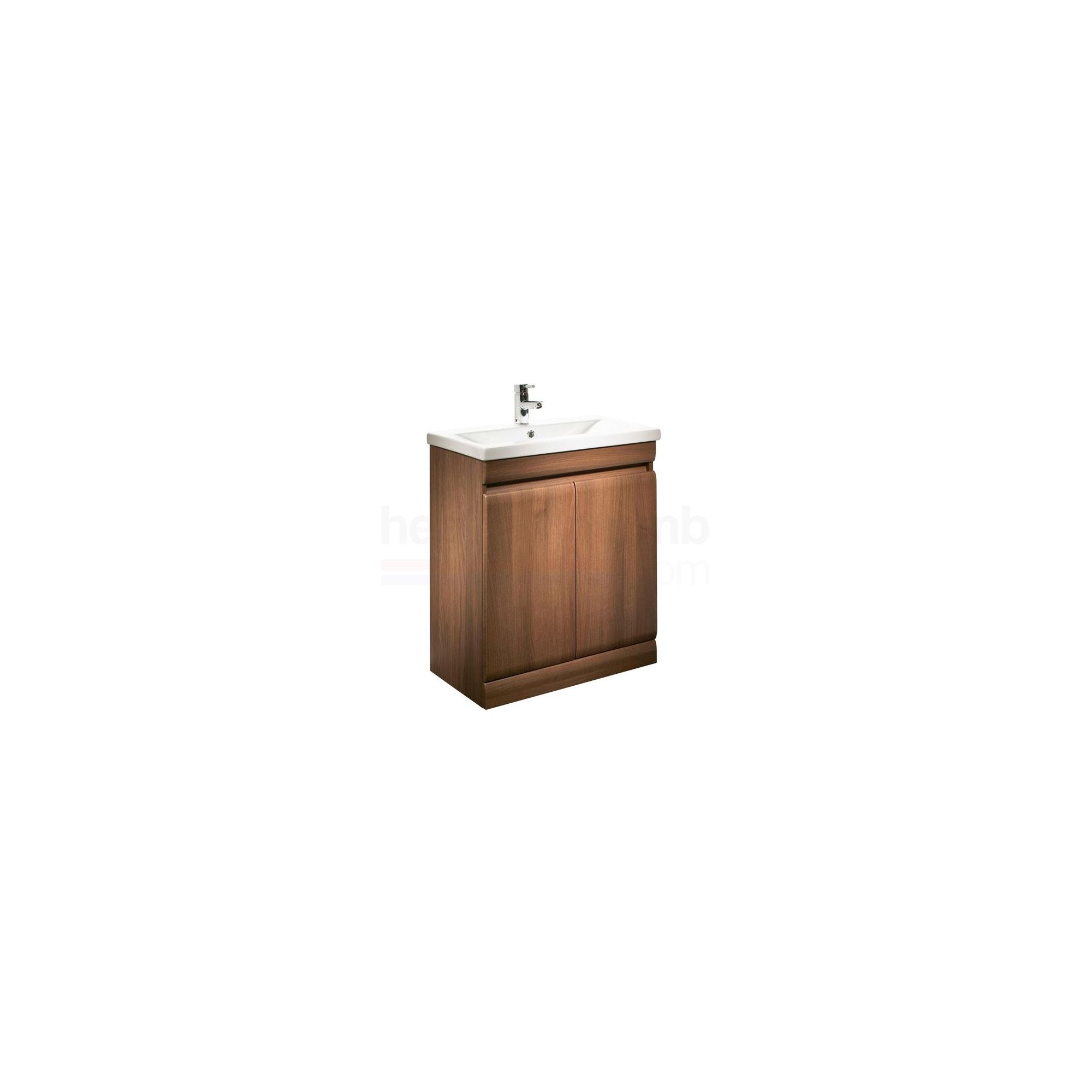 Tavistock Groove White Floor Standing Cabinet and Basin - 1 Tap Hole - 700mm Wide