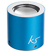Kitsound Button Bluetooth Speaker Blue