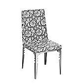 Premier Housewares Floral Dining Chair (Set of 2) - Grey / White