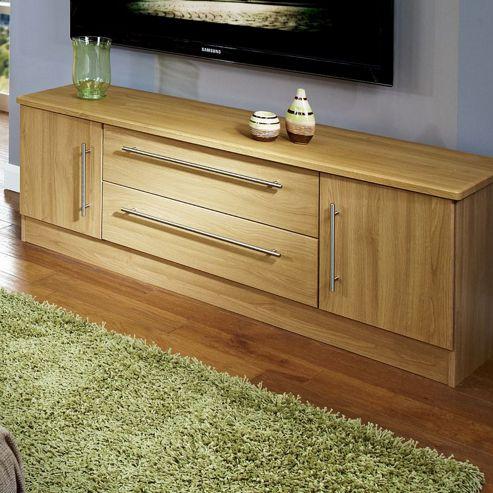 Welcome Furniture Living Room Wide 2 Door / 2 Drawer TV Unit - Modern Oak