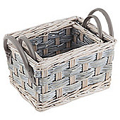 Tesco 2 Set Grey Wicker Storage Baskets
