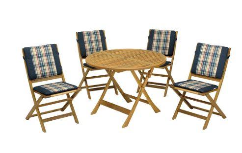 Buy Manhattan 5pc Dining Set Manhattan 90cm Table With 4 Manhattan Folding
