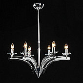 NYX Lighting Six Light Chandelier in Chrome