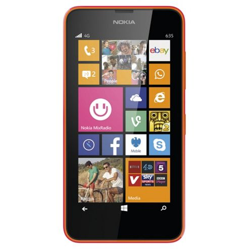 Tesco Mobile Nokia Lumia 635 Orange