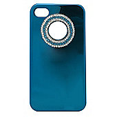 Tortoise™ Look Hard Case iPhone 4/4S Metallic Gem Blue