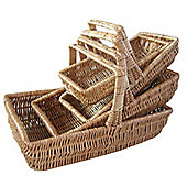 Wicker Valley Willow Large Rectangular Trug (Set of 4)