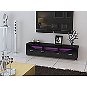 32 to 60 inch MDF TV Stand With Multicolour LED Lights - Black