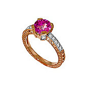 QP Jewellers Diamond & Pink Topaz Fantasy Ring in 14K Rose Gold