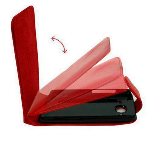 U-bop Neo-ORBIT Leather Case Red - For Blackberry 8520 Curve