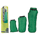 Summit Ultra Lightweight Dry Sacks Waterproof Bags, Set of 3