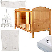 OBaby Beverley Cot Bed White Bundle (Country Pine)