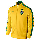 2014-15 Brazil Nike Authentic N98 Jacket (Yellow) - Yellow
