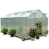 Nison EaZi-Click 12X8 Aluminium Polycarbonate Greenhouse in Silver including Base