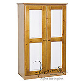 Verona 2 Drawer Tall Boy Wardrobe - Antique / White