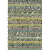 Mastercraft Rugs Woodstock Green Teal Stripe Rug - 133cm x 195cm