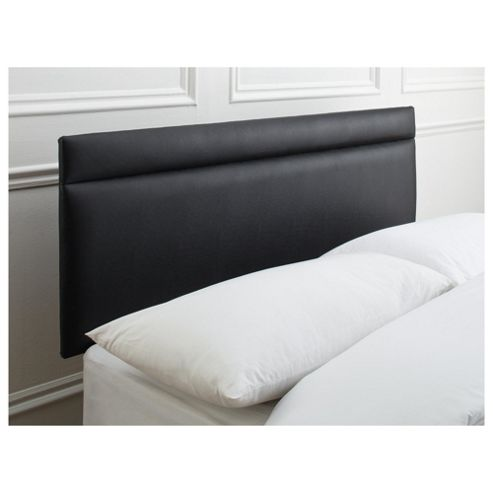 Seetall Liberty Headboard Black Faux Leather Double