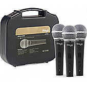 Stagg SDM50-3 Set of 3 Professional Dynamic Microphones