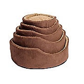 Timberwolf Faux Suede Oval Pet Bed