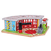 Bigjigs Rail Five Way Engine Shed