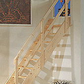 Cottage Wooden Loft Stairs